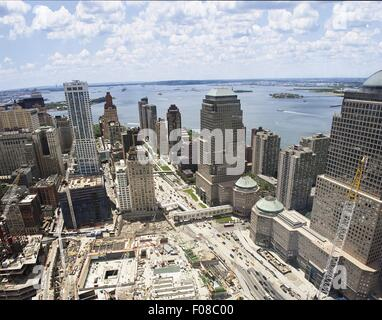 Construction work going on in Ground Zero site in New York, USA - Stock Photo