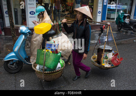 street vendor in Hanoi, Vietnam - Stock Photo