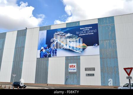 shipyard Saint Nazaire Loire Atlantique France - Stock Photo