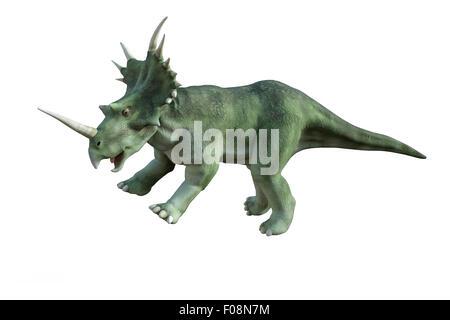 3D digital render of a dinosaur styracosaurus isolated on white background - Stock Photo