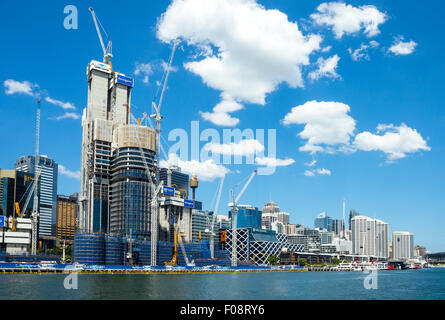 Australia, Sydney, construction sites in Darlin Harbour - Stock Photo