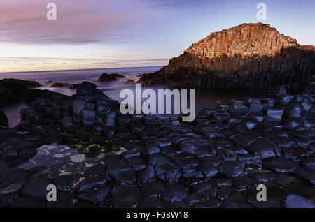 View of Giant's Causeway rock, Ireland - Stock Photo