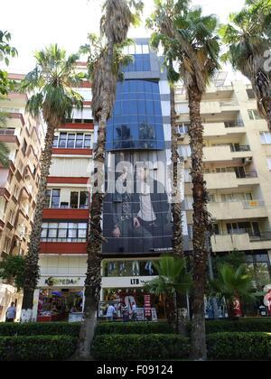 View of building at Ataturk Caddesi street at Antalya, Turkey - Stock Photo