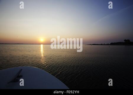 View of Baltic Sea at sunrise, Schleswig-Holstein - Stock Photo