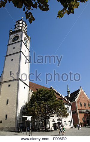View of Blaserturm in Ravensburg, Baden-Wurttemberg, Germany - Stock Photo