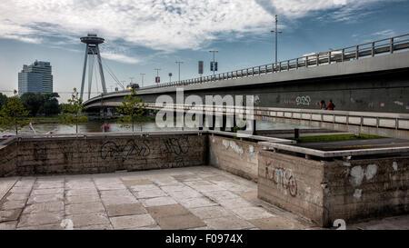 Bridge Novi Most in Bratislava, Slovak Republic - Stock Photo