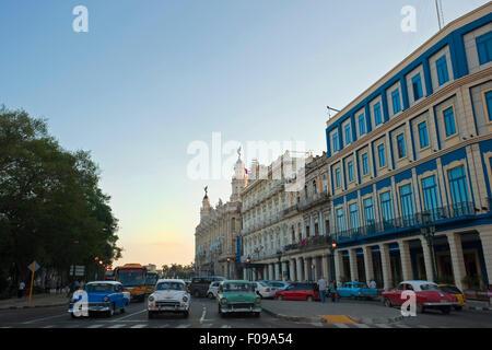 Horizontal view of the Gran Teatro de la Habana in Havana, Cuba. - Stock Photo