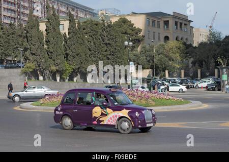 Taxi Baku Azerbaijan - Stock Photo