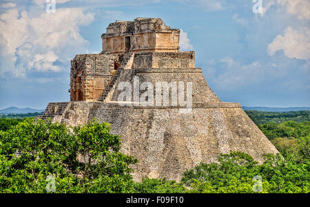 Pyramid of the Magician, Uxmal, Mexico - Stock Photo
