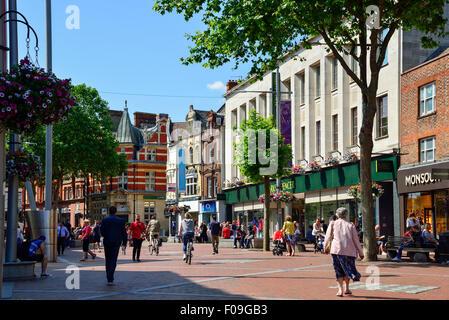Pedestrianised Broad Street, Reading, Berkshire, England, United Kingdom - Stock Photo