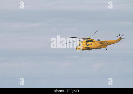 Air Sea Rescue helicopter. Anglesey, Wales - Stock Photo