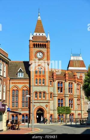 Reading Museum and Town Hall, Friar Street, Reading, Berkshire, England, United Kingdom - Stock Photo