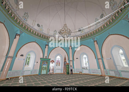 man praying Juma Mosque  Quba Azerbaijan - Stock Photo