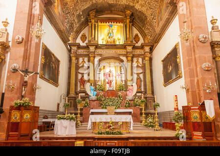 The Altar, Parroquia de San Miguel Arcangel, San Miguel de Allende, Mexico - Stock Photo