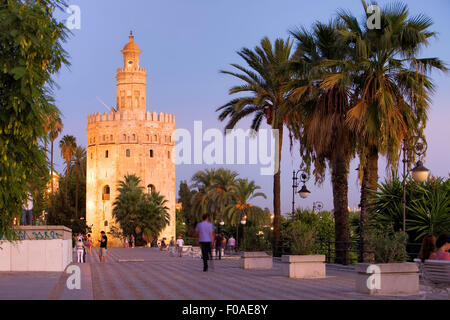 Torre del Oro,Gold tower,Sevilla,Andalucía,Spain - Stock Photo
