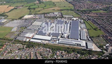 aerial view of the Bentley Motors luxury car production factory at Crewe, Cheshire, UK - Stock Photo