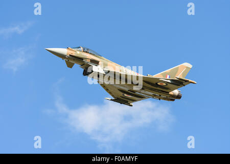 Royal Air Force Eurofighter Typhoon aeroplane in Battle of Britain camouflage colour scheme - Stock Photo