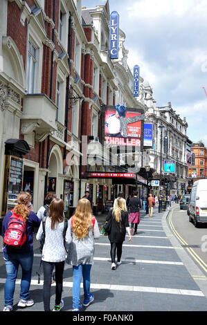 Apollo and Lyric theatres, Shaftesbury Avenue, West End, City of Westminster, London, England, United Kingdom - Stock Photo