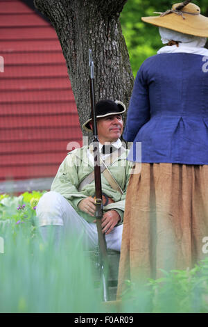 American Revolutionary War Reenactors Stock Photo