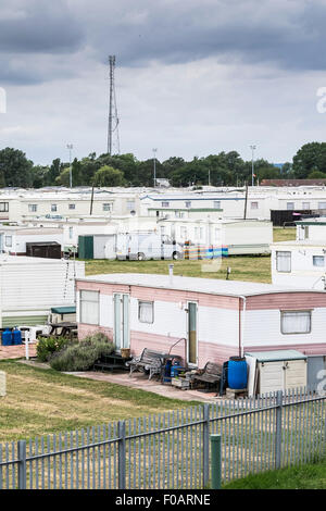 Thorney Bay Village. A residential caravan park on Canvey Island, Essex. - Stock Photo