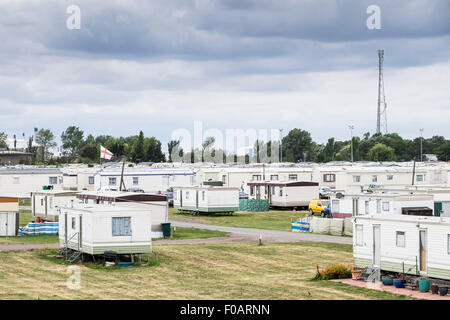Canvey Island - Thorney Bay Village. A residential caravan park on Canvey Island, Essex - Stock Photo