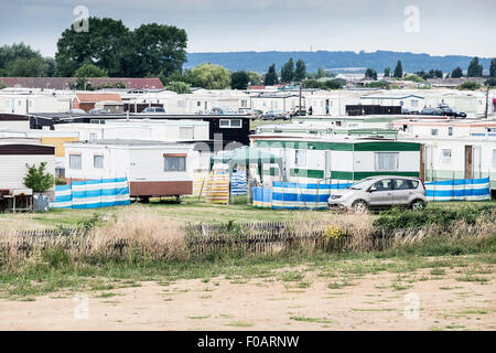 Canvey Island - Thorney Bay Village. A residential caravan park on Canvey Island, Essex. - Stock Photo