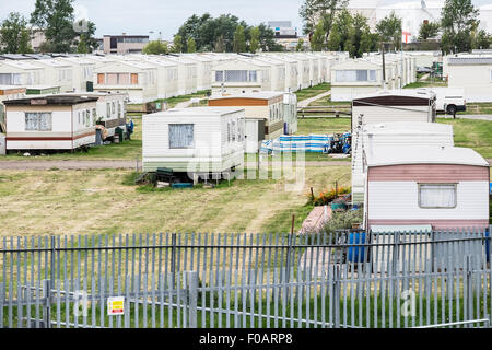 Canvey Island . Thorney Bay Village. A residential caravan park on Canvey Island, Essex. - Stock Photo