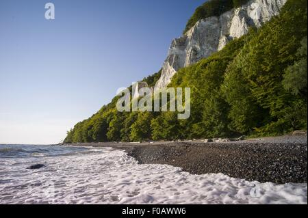 Königsstuhl National Park on Rügen – view of the chalk cliffs - Stock Photo