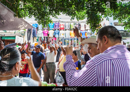 Daily life at city market. San Luis Potosi, SLP. Mexico - Stock Photo
