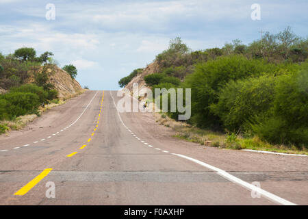 Mexican highways. Zacatecas, ZAC. Mexico - Stock Photo