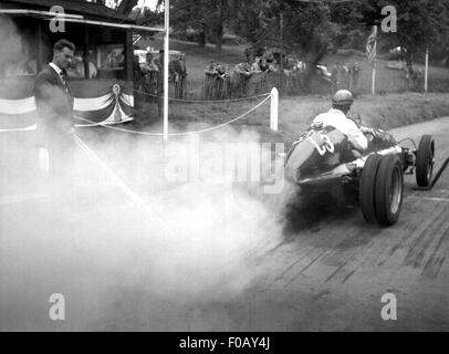 Bugatti racing car at Prescott hillclimb, UK 1930s - Stock Photo