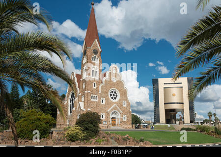 Christ Church (Christuskirche) and National Museum, Fidel Castro Street, Windhoek (Windhuk), Khomas Region, Republic - Stock Photo