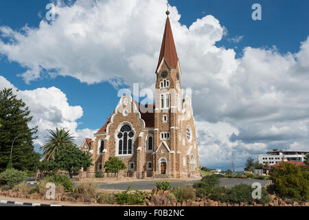 Lutheran Christ Church (Christuskirche), Fidel Castro Street, Windhoek (Windhuk), Khomas Region, Republic of Namibia - Stock Photo