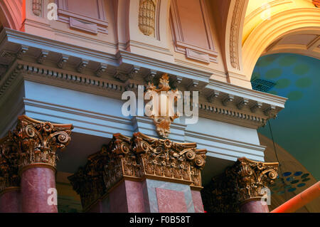 Inside the Royal Exchange building, formerly a commodity exchange, now a theatre. St. Anne's Square, Manchester, - Stock Photo