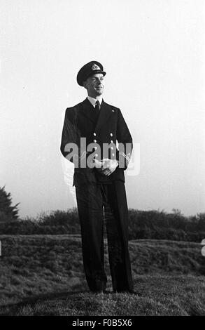 Portrait of a Royal British Naval Officer in uniform - Stock Photo