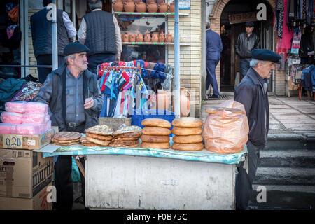 Bakers, Sheki (Shaki) local town Market, Azerbaijan - Stock Photo