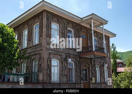 Brick buildings Sheki Azerbaijan - Stock Photo