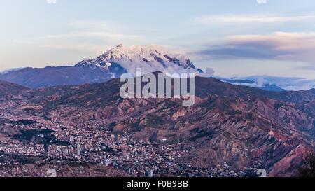 view over la paz in bolivia - Stock Photo