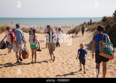 Camber Sands beach at the village of Camber on the outskirts of Rye, East Sussex, England, UK - Stock Photo