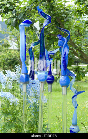 Glasgarten, Arnbruck, Kunstwerke, - Stock Photo