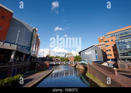 deep cutting section of oozells street loop area birmingham canal navigations brindleys old main line Birmingham - Stock Photo