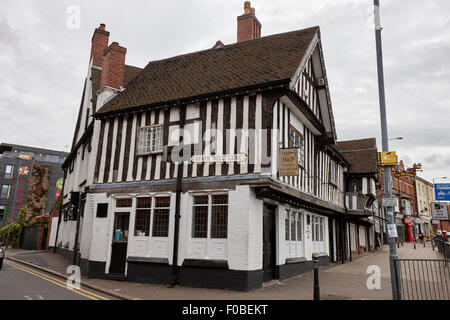 heath mill lane and the old crown pub Birmingham UK - Stock Photo