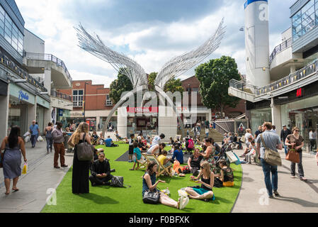 Angel Wings Sculpture, Angel Central Shopping Centre, Angel, London Borough of Islington, London, England, United - Stock Photo