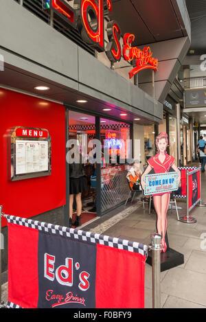 Ed's Easy Diner, Angel Central Shopping Centre, Angel, London Borough of Islington, London, England, United Kingdom - Stock Photo