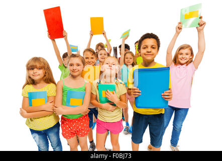 We got an A plus, large group of kids - Stock Photo