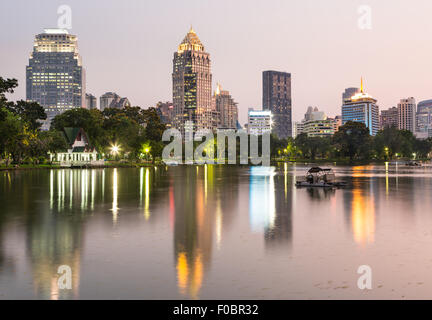Lumphini park in Bangkok is one of the city major park and tourist attraction and is located between Silom and Sukhumvit - Stock Photo