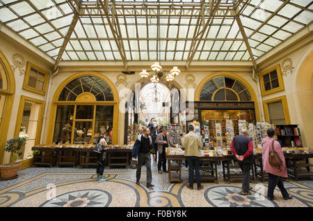 Galerie Vivienne is an ancient historical shopping passage with shops, cafe's, and restaurants. I - Stock Photo