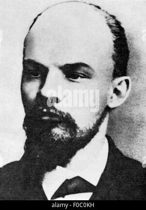 Lenin (Vladimir Ilyich Ulyanov), 22.4.1870 - 21.1.1924, Russian politician, portrait, 1897, - Stock Photo