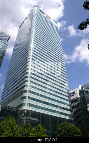 HSBC building Docklands London - Stock Photo