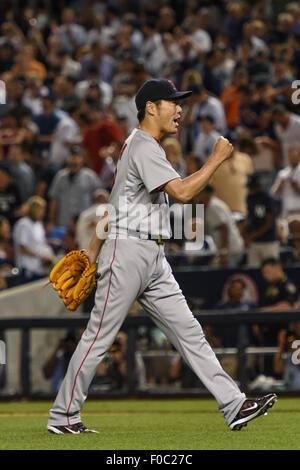 the Bronx, New York, USA. 5th Aug, 2015. Koji Uehara (Red Sox), AUGUST 5, 2015 - MLB : Koji Uehara of the Boston - Stock Photo